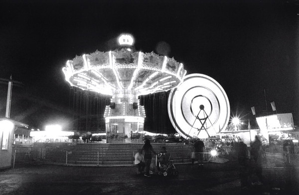 Light as Mathematics, Puyallup Fair, black and white film, by Nick Shiflet